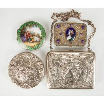 Silver & Enameled Boxes & Compacts