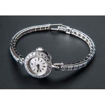 Girard Perregaux Ladies 14K White Gold & Diamond Watch