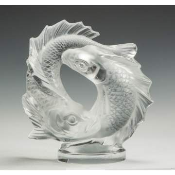 Lalique Molded & Frosted Fish