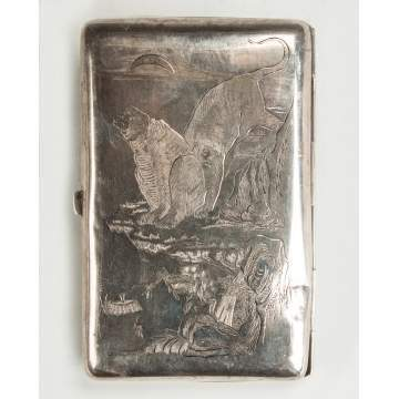 Chinese Export Silver Case